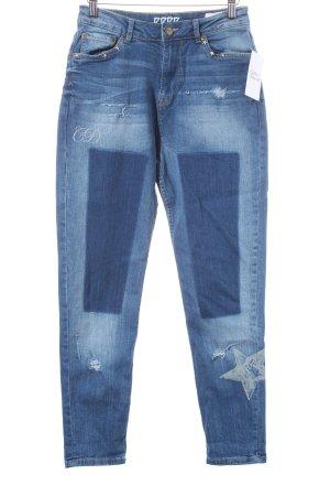Pepe Jeans High Waist Jeans blau Street-Fashion-Look