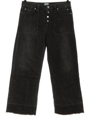 Pepe Jeans Jeans taille haute noir coton
