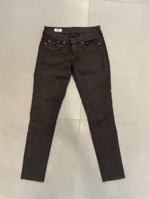 Pepe Jeans Pantalón de tubo marrón oscuro-marrón-negro