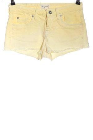 Pepe Jeans Short moulant jaune primevère style décontracté