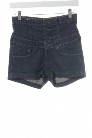 Pepe Jeans Hot Pants dunkelblau Jeans-Optik
