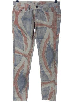 Pepe Jeans Pantalone a vita bassa motivo astratto stile casual