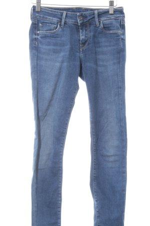 Pepe Jeans Hüftjeans weiß-dunkelblau Casual-Look