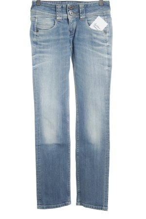 Pepe Jeans Hüftjeans weiß-kornblumenblau meliert Casual-Look