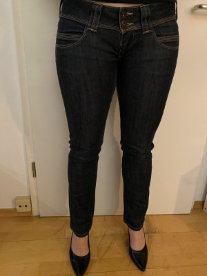 Pepe Jeans London Low Rise jeans leigrijs-donkerblauw