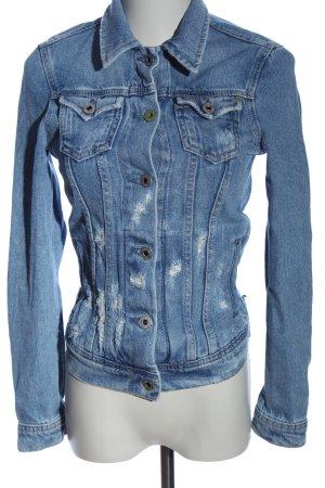 Pepe Jeans Blazer en jean bleu style décontracté