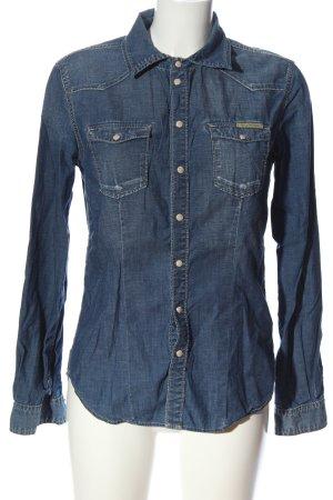 Pepe Jeans Chemise en jean bleu style décontracté