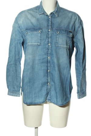 Pepe Jeans Jeanshemd blau Casual-Look