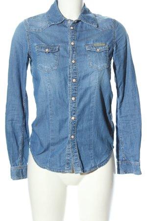 Pepe Jeans Jeansowa koszula niebieski W stylu casual