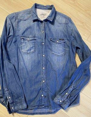 Pepe Jeans Jeansowa koszula niebieski Bawełna