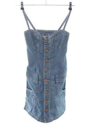 Pepe Jeans Jeanskleid blau Casual-Look
