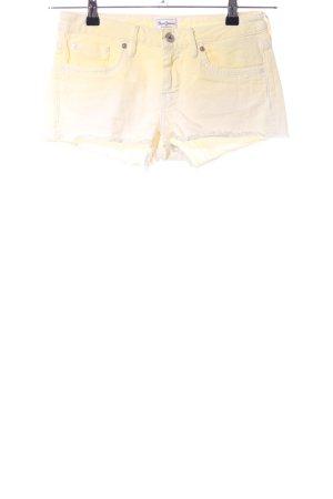 Pepe Jeans Jeansshorts blassgelb Farbverlauf Casual-Look