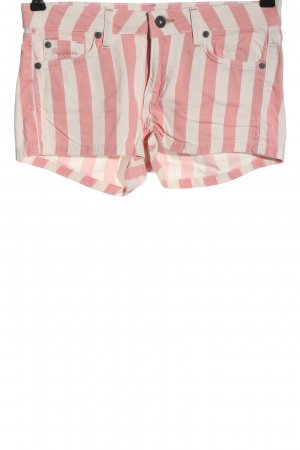 Pepe Jeans Jeansshorts pink-weiß Allover-Druck Casual-Look