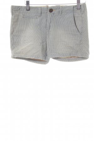 Pepe Jeans Jeansshorts graublau-creme Streifenmuster Casual-Look