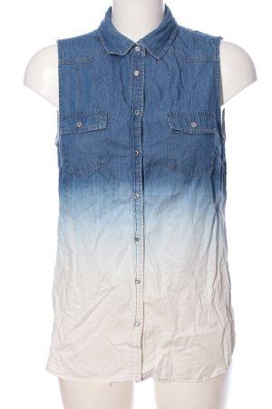 Pepe Jeans Jeansweste blau-weiß Farbverlauf Casual-Look