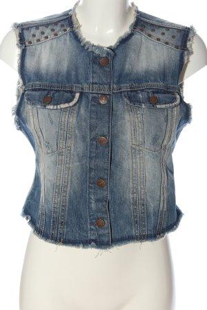 Pepe Jeans Jeansowa kamizelka niebieski W stylu casual