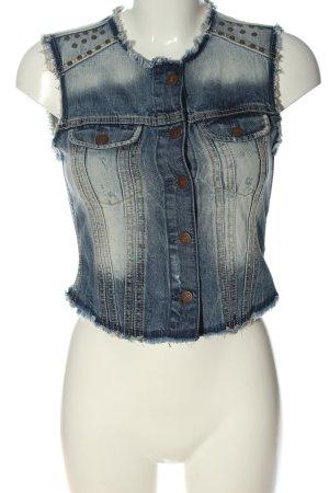 Pepe Jeans Gilet en jean bleu style décontracté