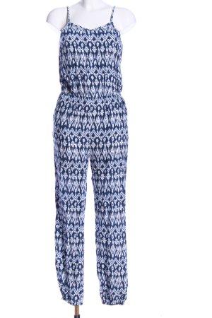 Pepe Jeans Jumpsuit blau-weiß Allover-Druck Casual-Look
