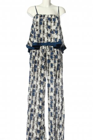 Pepe Jeans Jumpsuit weiß-blau Allover-Druck Casual-Look