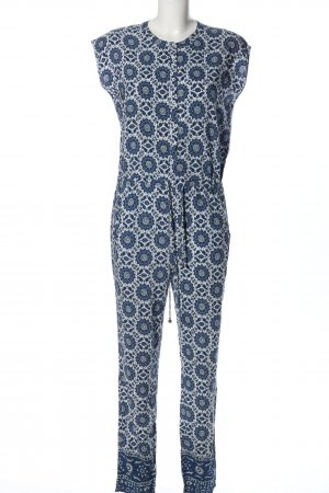 Pepe Jeans Jumpsuit blau-weiß Allover-Druck Casual-Look