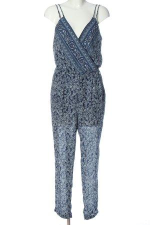 Pepe Jeans Tuta blu-bianco stampa integrale stile casual