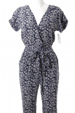 Pepe Jeans Jumpsuit wollweiß-dunkelblau abstraktes Muster Casual-Look