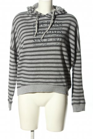 Pepe Jeans Maglione con cappuccio grigio chiaro-nero caratteri stampati