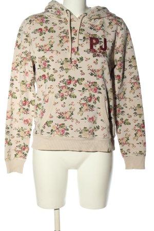 Pepe Jeans Maglione con cappuccio motivo floreale stile casual