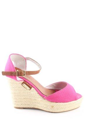 Pepe Jeans Keil-Pumps pink Casual-Look