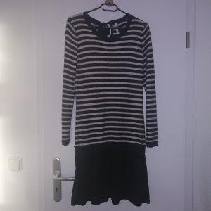 Pepe Jeans Jurk met lange mouwen wit-zwart