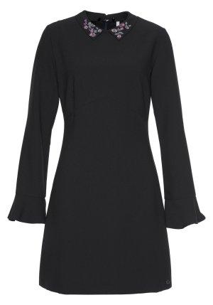Pepe Jeans Kleid Modell Grace neu schwarz mit kleiner Stickerei am Kragen GR L