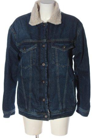 Pepe Jeans Kunstfelljacke blau Casual-Look