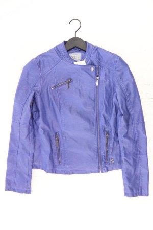 Pepe Jeans Faux Leather Jacket blue-neon blue-dark blue-azure polyurethane