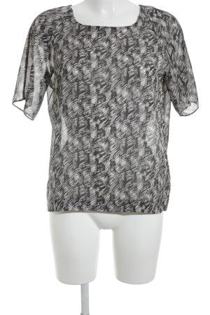 Pepe Jeans Kurzarm-Bluse abstraktes Muster Transparenz-Optik