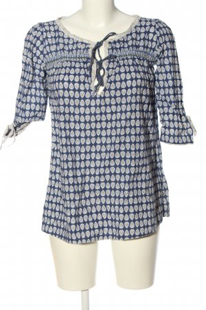 Pepe Jeans Kurzarm-Bluse Allover-Druck Casual-Look