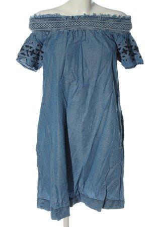 Pepe Jeans Robe à manches courtes bleu style décontracté