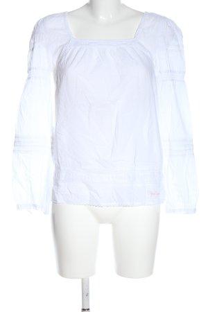Pepe Jeans Blusa de manga larga blanco elegante