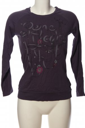 Pepe Jeans Langarm-Bluse lila Motivdruck Casual-Look