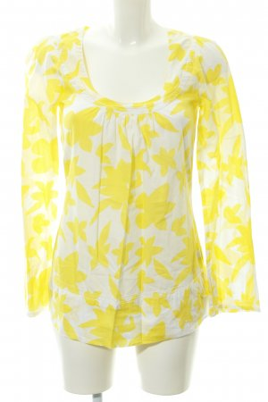 Pepe Jeans Langarm-Bluse weiß-gelb Blumenmuster