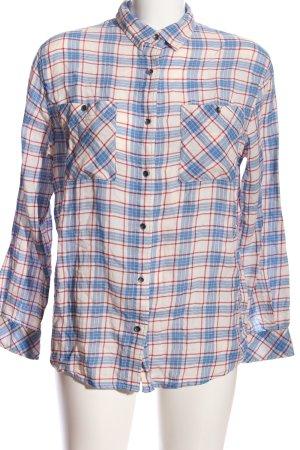 Pepe Jeans Langarmhemd creme-blau Allover-Druck Casual-Look