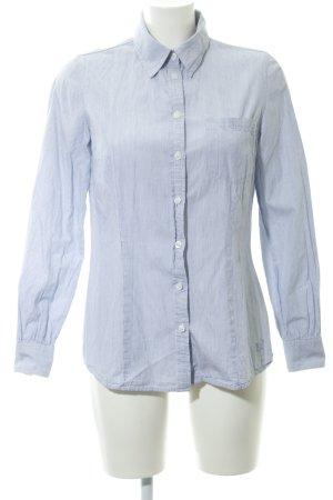 Pepe Jeans Langarmhemd himmelblau-weiß Streifenmuster schlichter Stil
