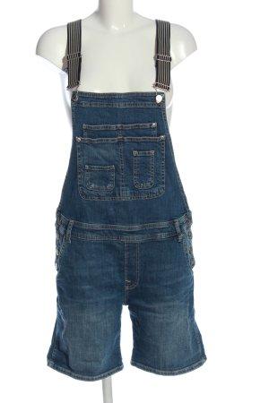 Pepe Jeans Szorty ogrodniczki niebieski W stylu casual