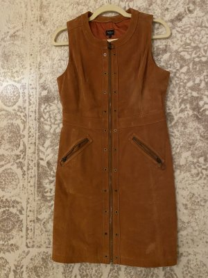 Pepe Jeans Leather Dress brown-cognac-coloured
