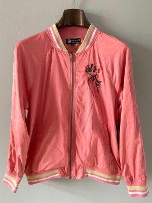 PEPE Jeans leichter Blouson rosa/apricot mit Stickereien Größe M