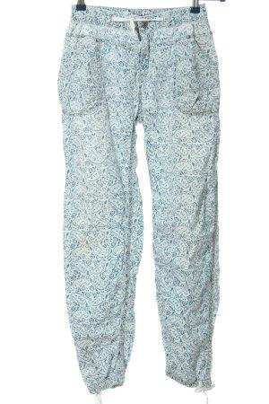 Pepe Jeans London Baggy Pants weiß-türkis Allover-Druck Casual-Look