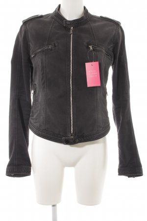 Pepe Jeans London Bikerjacke anthrazit Biker-Look