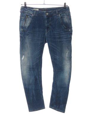 Pepe Jeans London Boyfriendjeans blau Casual-Look