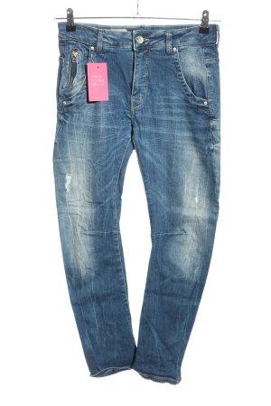 Pepe Jeans London Jeansy typu boyfriend niebieski W stylu casual