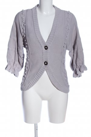 Pepe Jeans London Cardigan hellgrau Zopfmuster Casual-Look
