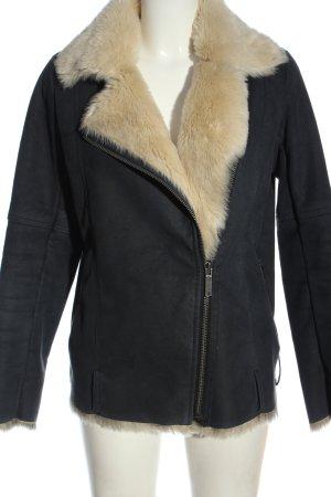 Pepe Jeans London Veste en fourrure gris clair style décontracté